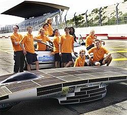 Nuna team at a racecourse