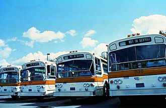 Orange County Transportation Authority - OCTD busses in the 1980s