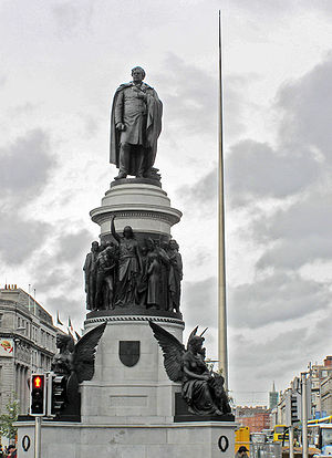 Daniel O'Connell - O'Connell Monument on O'Connell Street in Dublin