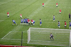 Ole Gunnar Solskjær - Solskjær taking a free kick during his testimonial