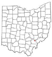 Location of Amesville, Ohio