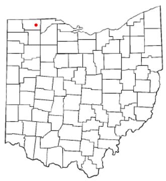 Delta, Ohio - Image: OH Map doton Delta