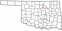 Location of Glencoe, Oklahoma