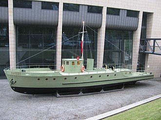 ORP Batory - ORP Batory on display outside the Gdynia museum