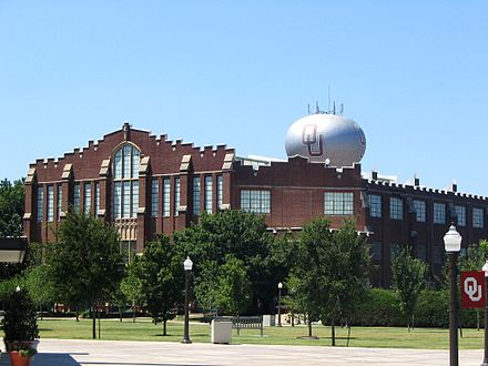 McCasland Field House, home of OU's volleyball and wrestling teams. OU FieldHouse.jpg