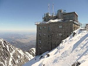 Lomnický štít - Solar observatory Lomnický štít (Slovakia) built in 1962
