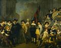 Officieren en andere schutters van wijk V in Amsterdam onder leiding van kaptein Cornelis de Graeff en luitenant Hendrick Lauwrensz.png