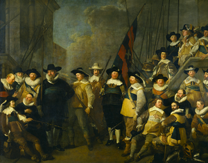 Jacob Adriaensz Backer - Company of Cornelis de Graeff and luitenant Hendrick Lauwrensz by Jacob Backer (1642)
