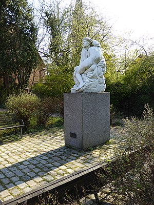 Valby Langgade - Marble sculpture by Anders Bundgaard