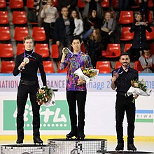 Podium des Internationaux de France 2019, à Grenoble