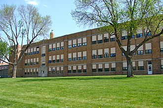 National Register of Historic Places listings in Cass County, Iowa - Image: Old Atlantic IA High School