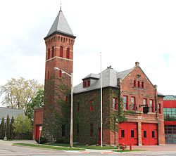 Old Fire Station Historic Structure Ypsilanti Michigan.JPG