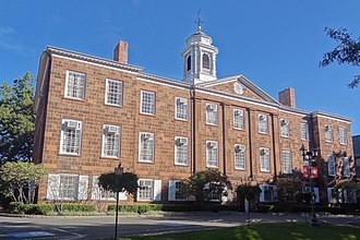 Rutgers University - Old Queens, the oldest building at Rutgers University in New Brunswick, New Jersey, built between 1809–1825. Old Queens houses much of the Rutgers University administration.