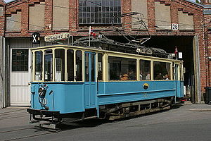 Trams in Oslo - Historic electrical tram in Oslo