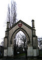 Old gateway to Victoria Park Cemetery, now Meath Gardens, Bethnal Green.jpg