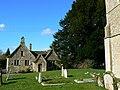 Old school house and St John the Baptist churchyard, Latton - geograph.org.uk - 714246.jpg