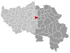 Olne - Image: Olne Liège Belgium Map