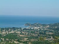 Olymbiada, Chalkidiki, Greece - View from Northwest with ancient Stagira.jpg