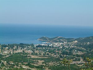 English: Village of Olymbiada, Chalkidiki, Gre...