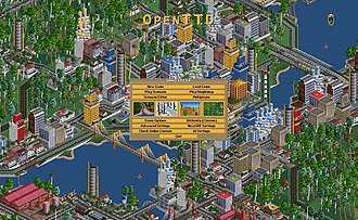 Business simulation game - OpenTTD (2014) is a business simulation game