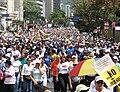Oposicionistas al gobierno de Chavez durante el referendum de 2007.jpg
