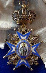 Order of Saint Sava grand cross badge (Serbia 1890) - Tallinn Museum of Orders.jpg