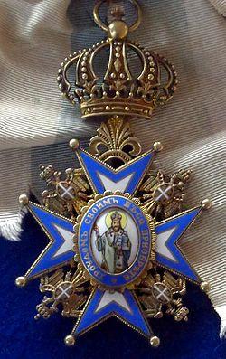 Order of Saint Sava grand cross badge (Serbia 1890) - Tallinn Museum of Orders.jpg