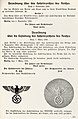 Organisationsbuc00nati 0 orig 0761 ORGANISATIONSBUCH DER NSDAP 1943 Seite 511 Verordnung über das Hoheitszeichen des Reiches vom 5. November 1935 u. 7. März 1936 (Kopfstellung des Hoheitsadlers des Staates u. der NSDAP) LIGHTER.jpg