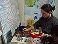 Organising feeds for kakapo chicks (8529405482).jpg