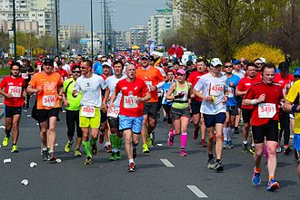 Marathon - Competitors during the 2014 Orlen Warsaw Marathon