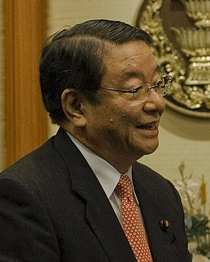 Osamu Fujimura - Japanese Chief Cabinet Secretary Osamu Fujimura meeting with Thai Prime Minister Abhisit Vejjajiva