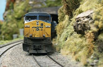 HO scale - HO scale model of a CSX locomotive