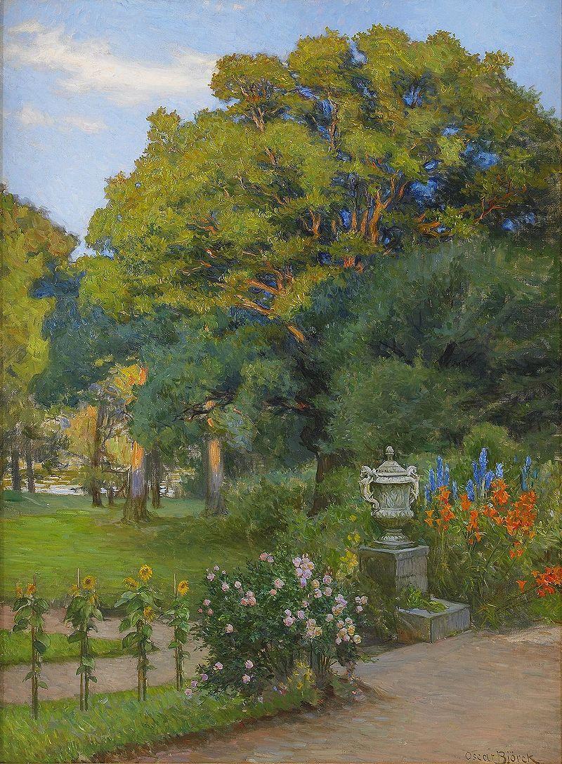 Oscar Gustaf Björck (1860–1929) Hostpigen אוסקר גוסטב - צייר שוודי