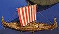 Oseberg viking ship c. 830 model. Armed Forces Museum of Norway (Forsvarsmuseet), Akershus Fortress, Oslo. Photo 2019-03-31DSC01463.jpg