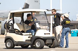 United States Air Force Office of Special Investigations - Several OSI agents at a US Air Force base