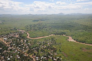 Bunia - Bunia from the air.