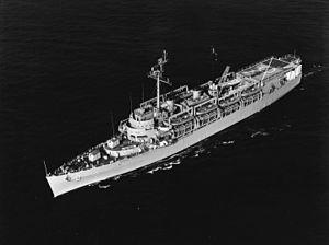 USS Ozark (LSV-2) - USS Ozark at sea on 31 August 1966.