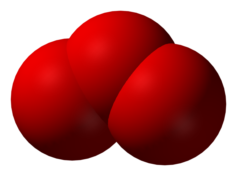Spacefill model of ozone