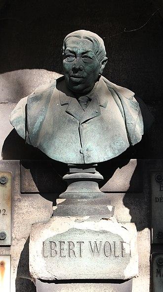 Albert Wolff (journalist) - Image: Père Lachaise Albert Wolff 03