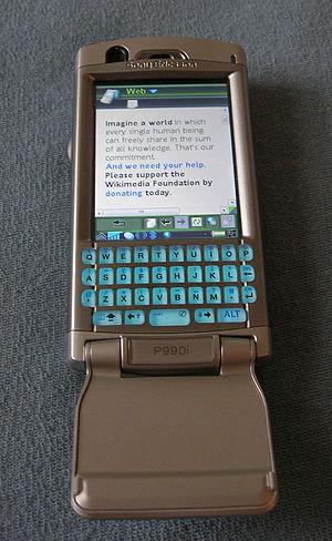 Sony Ericsson P990 - Image: P990i open