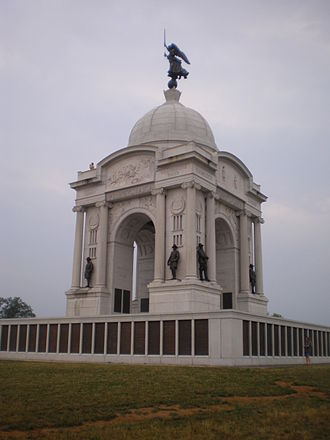 Pennsylvania in the American Civil War - Pennsylvania Monument at the Gettysburg National Military Park.