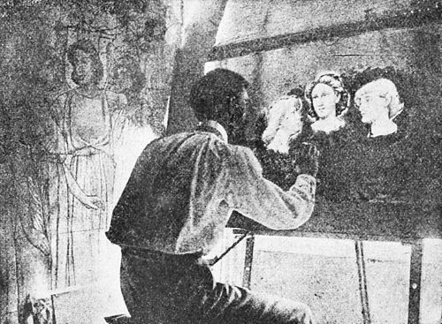 PSM V35 D034 In the painting room the artist is laying in the heads.jpg
