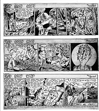 Ed Seeman - Three clips from the comic strip Pvt Goof Hoff, by Corporal Ed Seeman, at the time part of Headquarters, 4th Infantry Division, stationed in Germany.