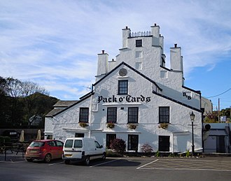 Combe Martin - The Pack o' Cards is located on the village street
