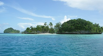 Rock Islands in Palau. Palau-rock-islands20071222.jpg