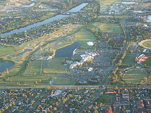 Penrith Panthers - Aerial photograph of the Penrith Panthers Leagues Club complex, in Penrith