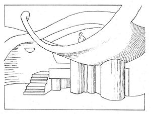 Paolo Soleri Amphitheater - Line drawing of Paolo Soleri Amphitheater