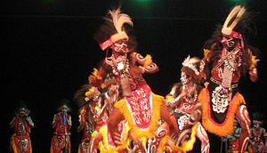 Dance in Indonesia - Papuan tribal war dance from Yapen.