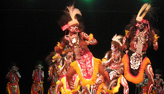 Papua (province) - Papuan dance from Yapen