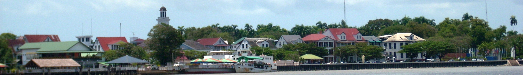 Paramaribo seen from Suriname River